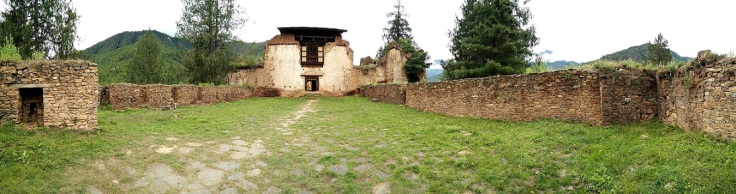 Drukgyel Dzong courtyard