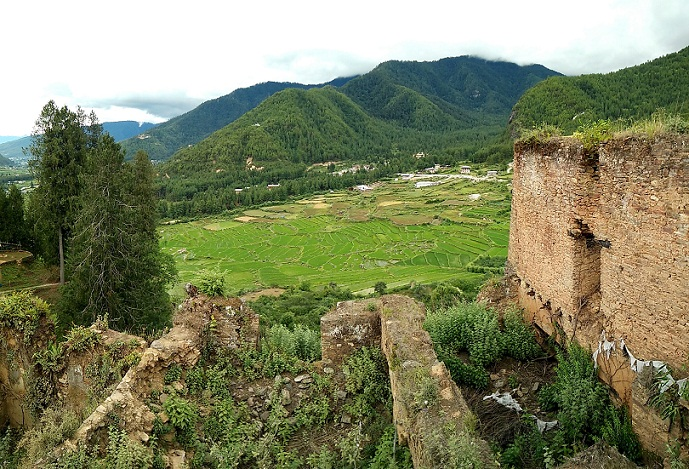 Farms near Drukgyel Dzong